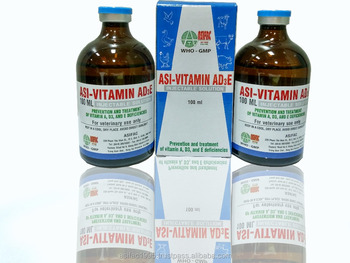 GMP, Vitamin AD3E injection for veterinary medicine/animal/cattle < ASIFAC>