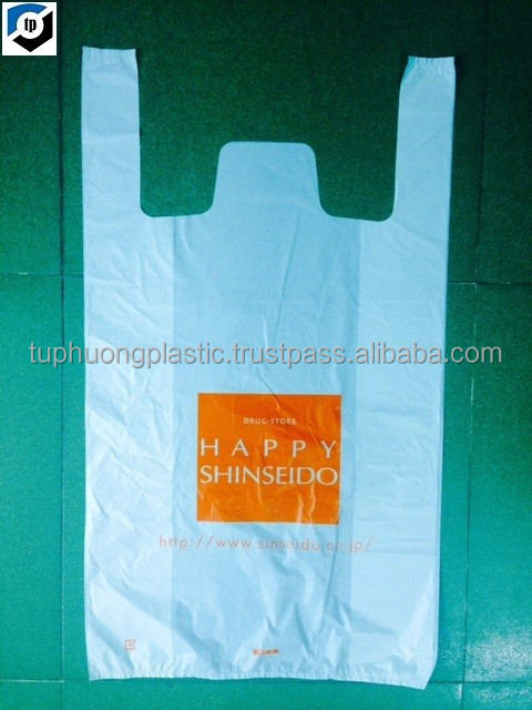 promotional custom safety plastic t shirt bag with environmental material - 1%EPI