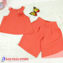 Cool Design Fresh five colors poly & cotton Fabric with Wide Leg Casual clothings for girls made in Vietam