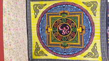 Indian Hippie gypsy Om Queen Tapestry Mandala Bohemian Wall Hanging Bedspread Dorm Throw tapestry yoga mats