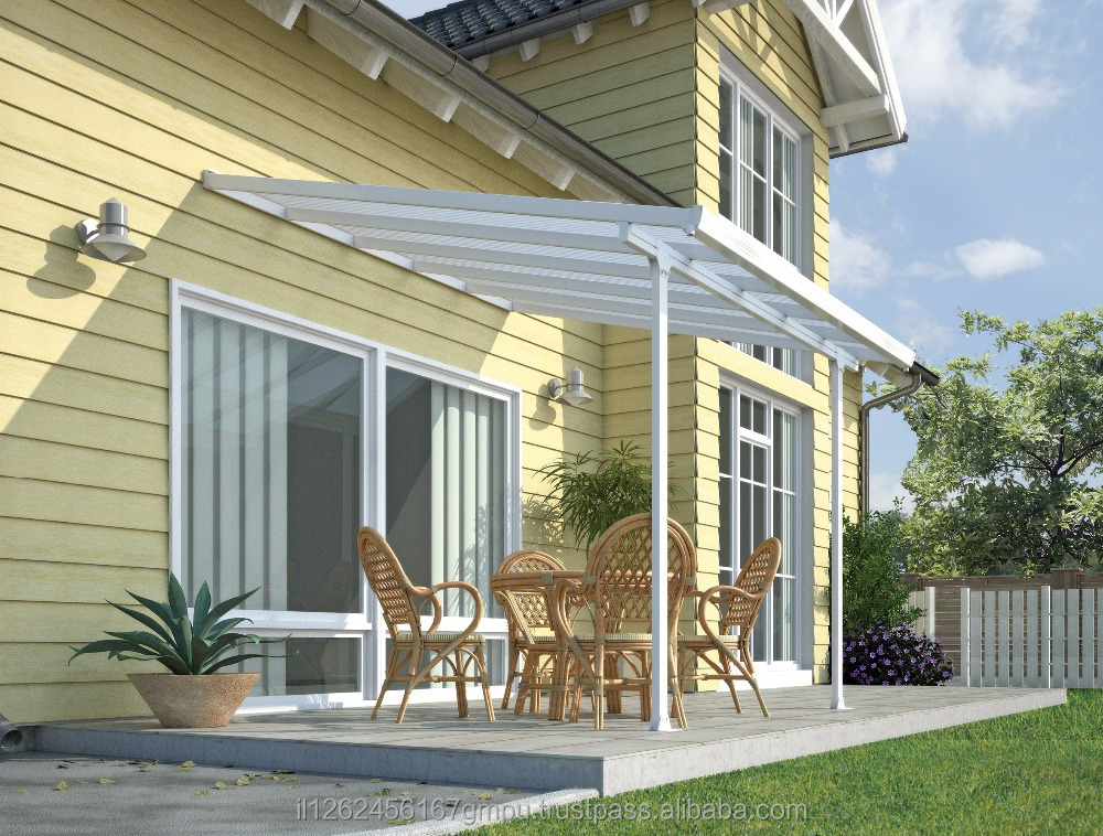 PALRAM Feria patio cover 3X3.05 meter White- Clear