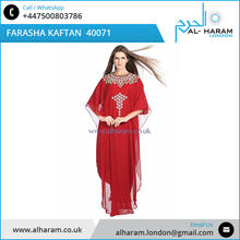 Elegant Women Long Sleeve Evening Dubai Designer Farasha Dresses/Kaftan Arabic Style islamic Muslim Women Fancy