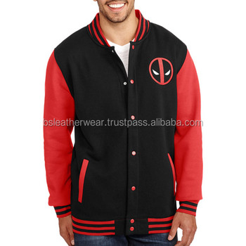 Iron Man Red And Black Cotton Baseball Jackets Bomber Embroidered Logo