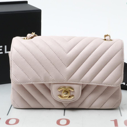 Preowned Used brand designer CHANEL Pink V stitch chain shoulder bags for bulk sale.