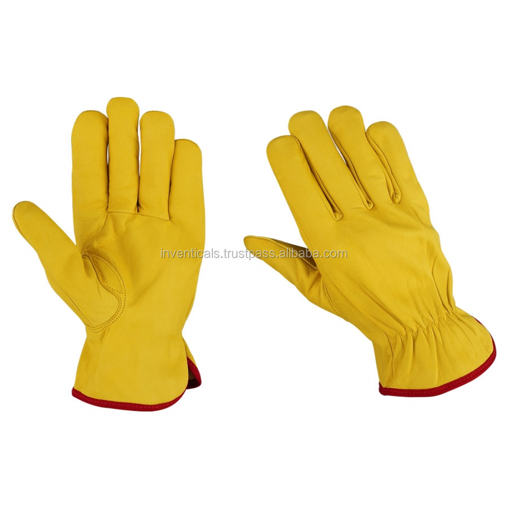 New Goatskin Leather Recycle Safety Working Gloves Eco-Friendly Soft touch
