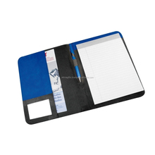Hard cover presentation file folders / luxury nylon Fabric file folders /a4 legal size file folders with pen holder
