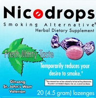 Nicodrops Stop Smoking/Smoking Alternative All Natural mint flavored lozenge