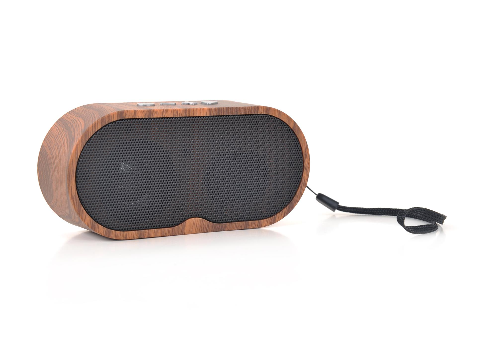 Professional sound wood bluetooth speaker with fm radio