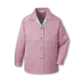 Apparel manufacturer / Work smocks made with low-dust and antistatic fabric. Made by Japan