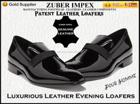 High quality Italian style Patent Leather Loafer Shoes For Men - Luxurious Evening Loafers - New Design - Trending Style