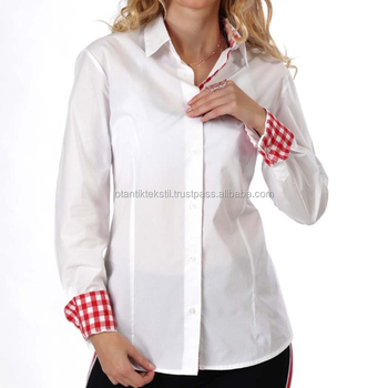 White Women Shirt, Cotton slim fit, women dress shirt, ladies tops, top, women's blouse, mujer camisa, Frau hemd