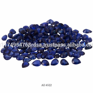 4X3MM Pear Cut Blue Sapphire Loose Gemstone