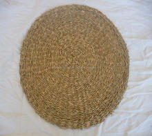 100% natural straw placemats high quality seagrass tableware hand woven wicker hamster mat