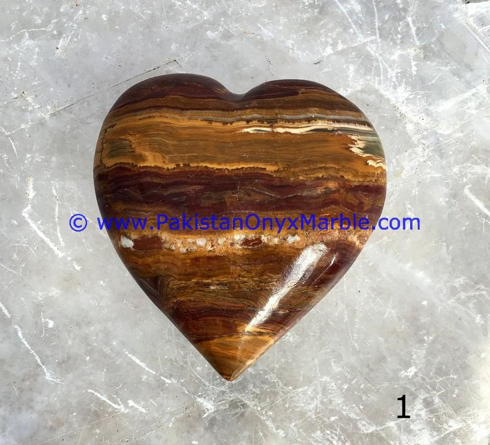 FACTORY SUPPLY GOOD SALE ONYX HEARTS MULTI BROWN ONYX HAND CARVED MARRIAGE VALENTINE LOVE GIFT IDEA