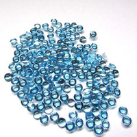 4mm Natural Swiss Blue Topaz Cabochon Round Loose Gemstone