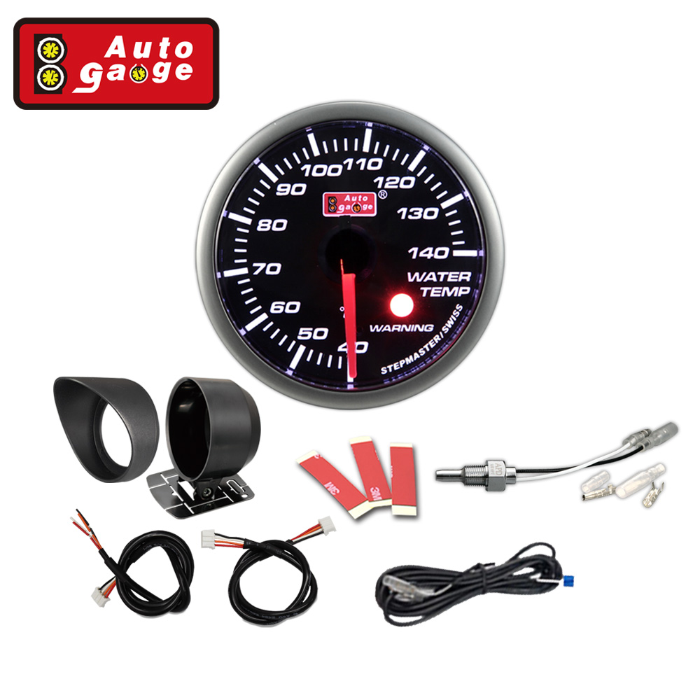 smoked lens automotive water temp gauge