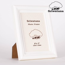 High Quality White Wooden Picture Photo Frame Customized Size and Color