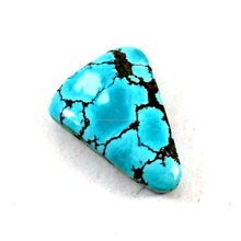 2017 Attractive Semi Precious Blue Turquoise Freeform Shape Loose Gemstone