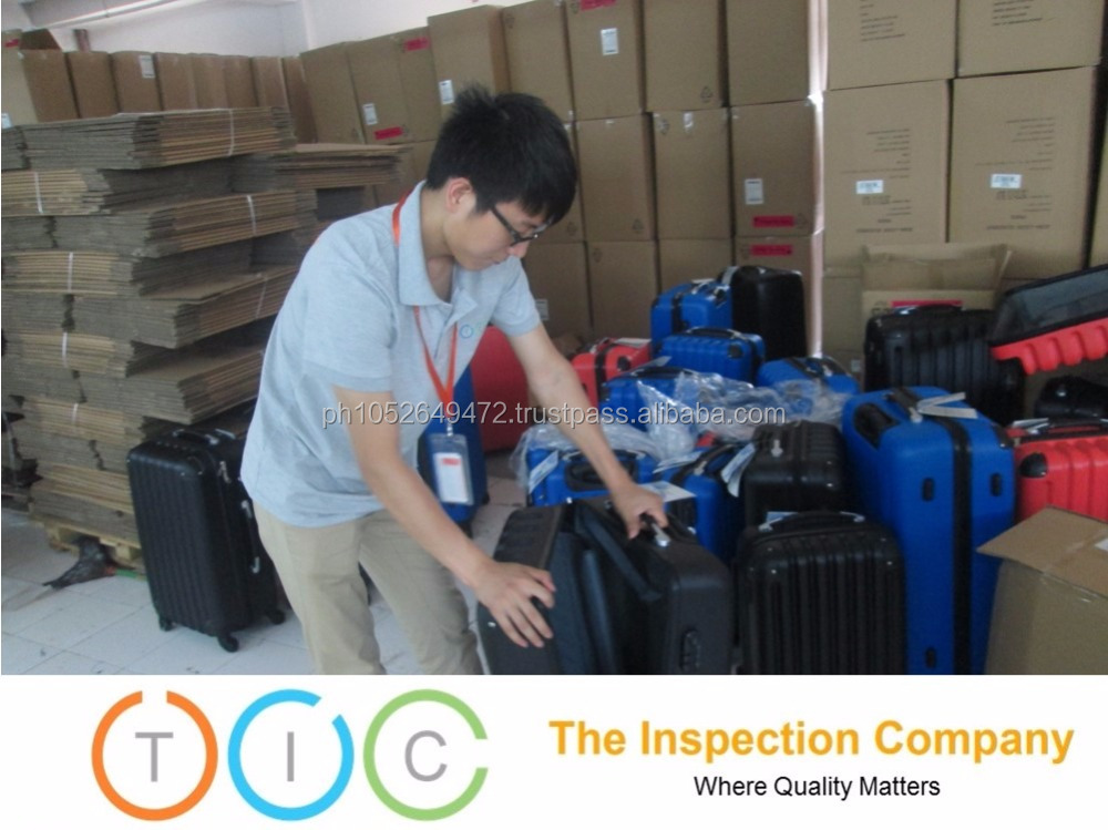 Sample Testing in Cambodia for travel luggage bag