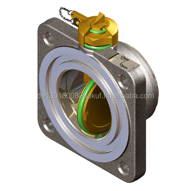 Radiator butterfly valve soft sealed DN80 / for transformers
