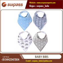 Exclusive Range of High Quality Cotton Printed Bandana Drool Baby Bibs