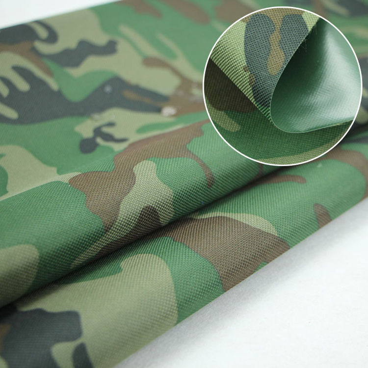 PU Coated Waterproof Camouflage Fabric for luggage