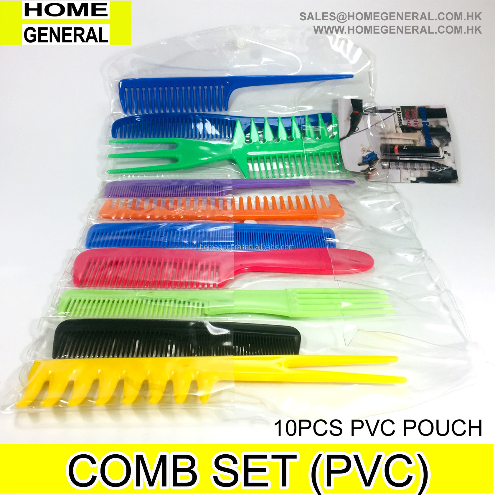 10PCS FAMILY COMB SET (PVC POUCH)