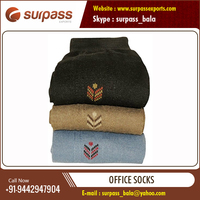 100% Cotton Top Quality Unisex Office Sock at Low Market Price