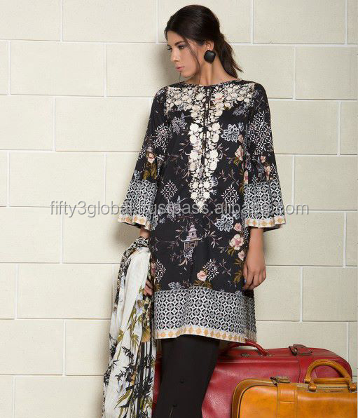 Designer Pakistani & Indian Laws 3 Piece Suit