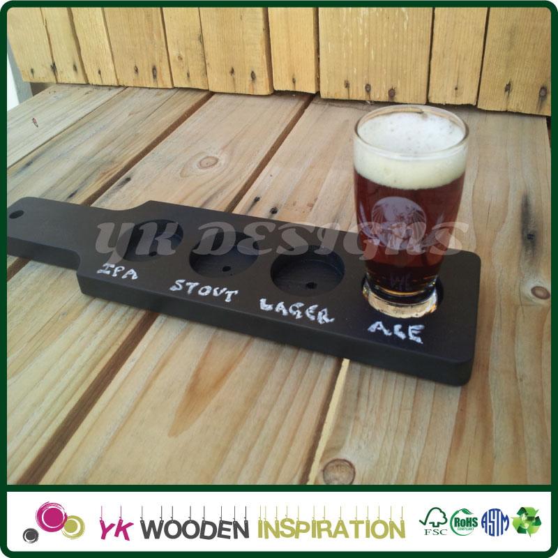 Wooden paddle holder with Laser Engraving