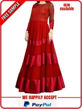 Floor length designer party dress for women