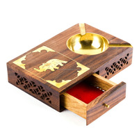 Hot Sale Wooden Ashtray and Cigarette Case