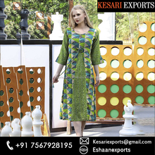 Green Rayon Casual Wear Printed Work Kurti - Branded kurti - Latest women kurti