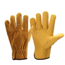 Cowhide Men's Work Driver Gloves Security Protection Wear Safety Workers Welding Hunting Gloves