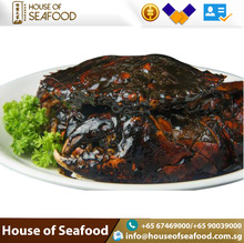 Best selling Seafood Ready to Eat Black Pepper golden Crab