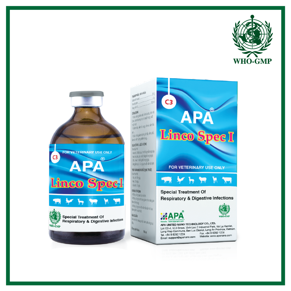APA Linco Spec I | High Quality Lincomycin Injection produced by APA veterinary pharmaceutical companies