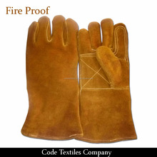 WELDING SAFETY GLOVES WITH LEATHER GRADE A/AB/BC Welding glove cow split leather fire proof gloves