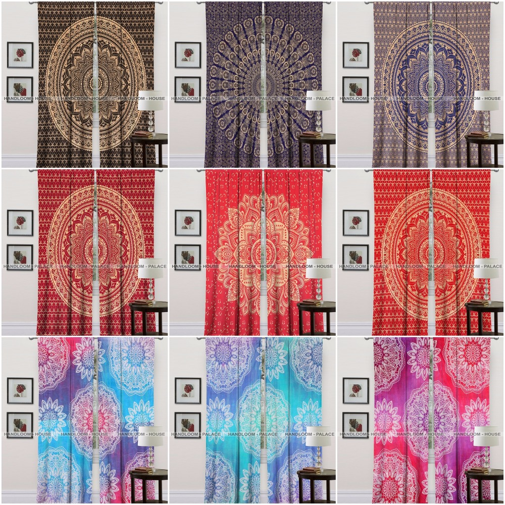 Indian Cotton Mandala Designer Cotton Curtain Home Decorative Window Curtains