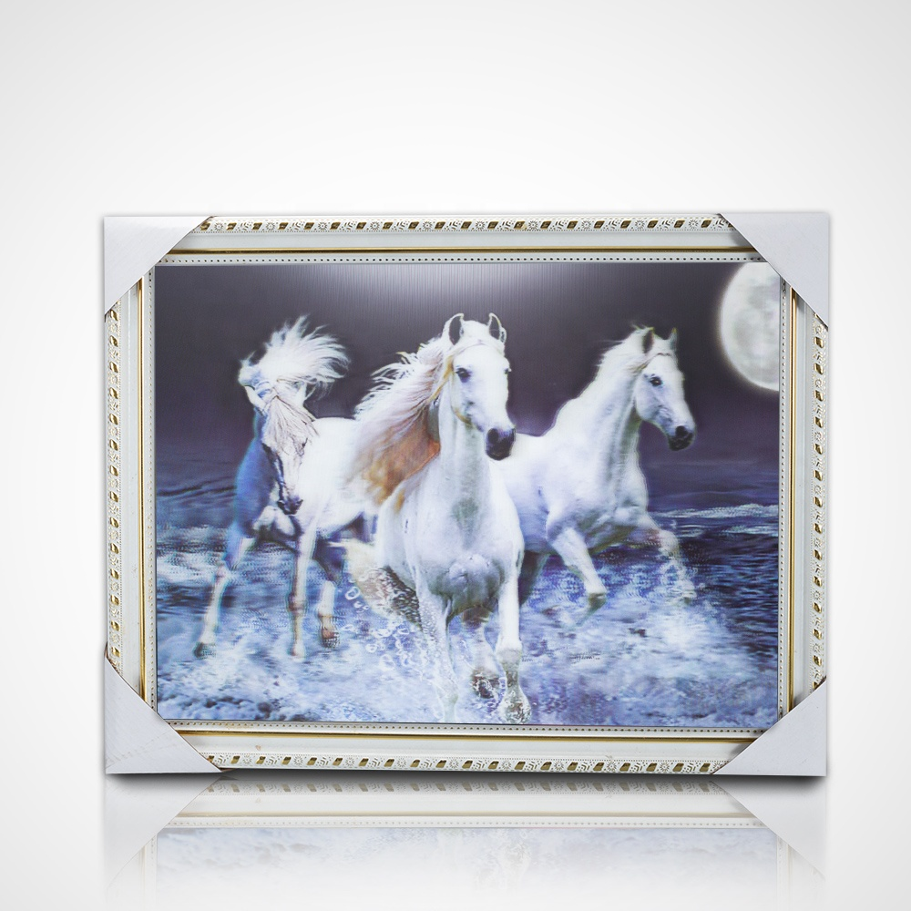 Promotional gift 3d lenticular printed chinese horse pictures