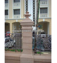Pink Stone Outdoor Decor Pillar