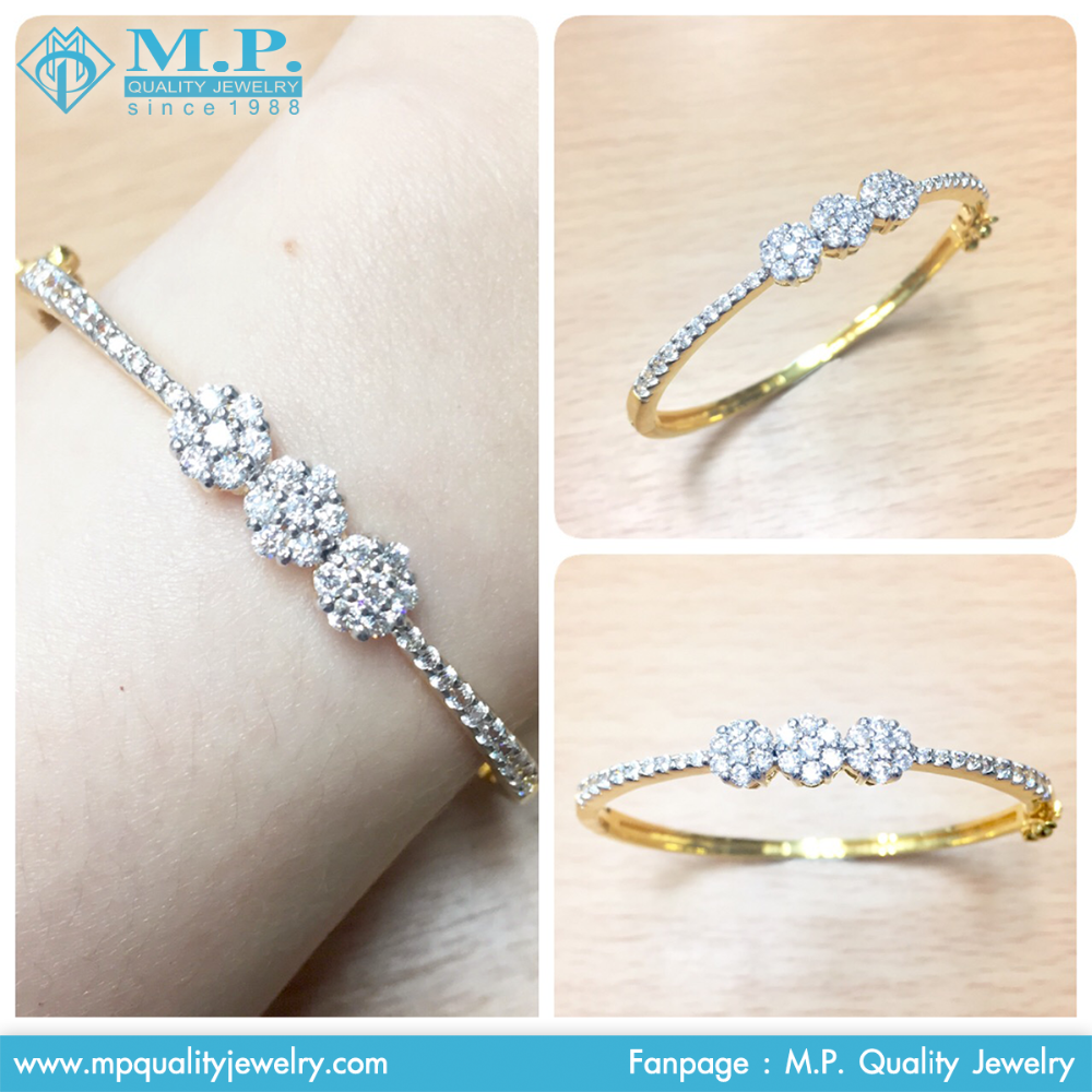Bangle Jewelry with Gold Plated Swiss CZ AAAAA Costume Jewelry