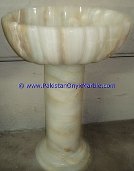 Buy Cheap Long Life ONYX PEDESTALS SINKS BASINS WHITE ONYX