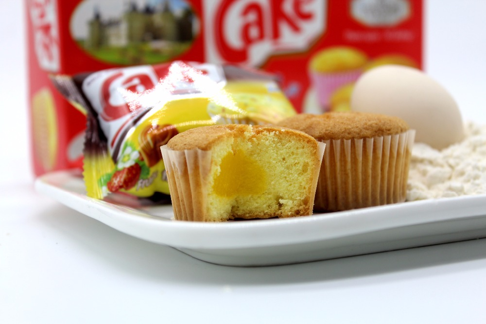Wholesale egg milk filled cupcake