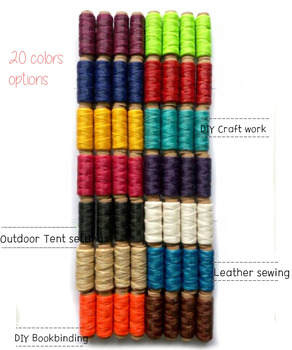 25yards Artificial SINEW Thread Polyester Leatherworking, Bookbinding thread