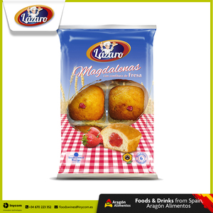 Spanish Strawberry Jam filled Sponge Cake Muffins without Palm Oil or Animal Fats FDA approved | Lazaro