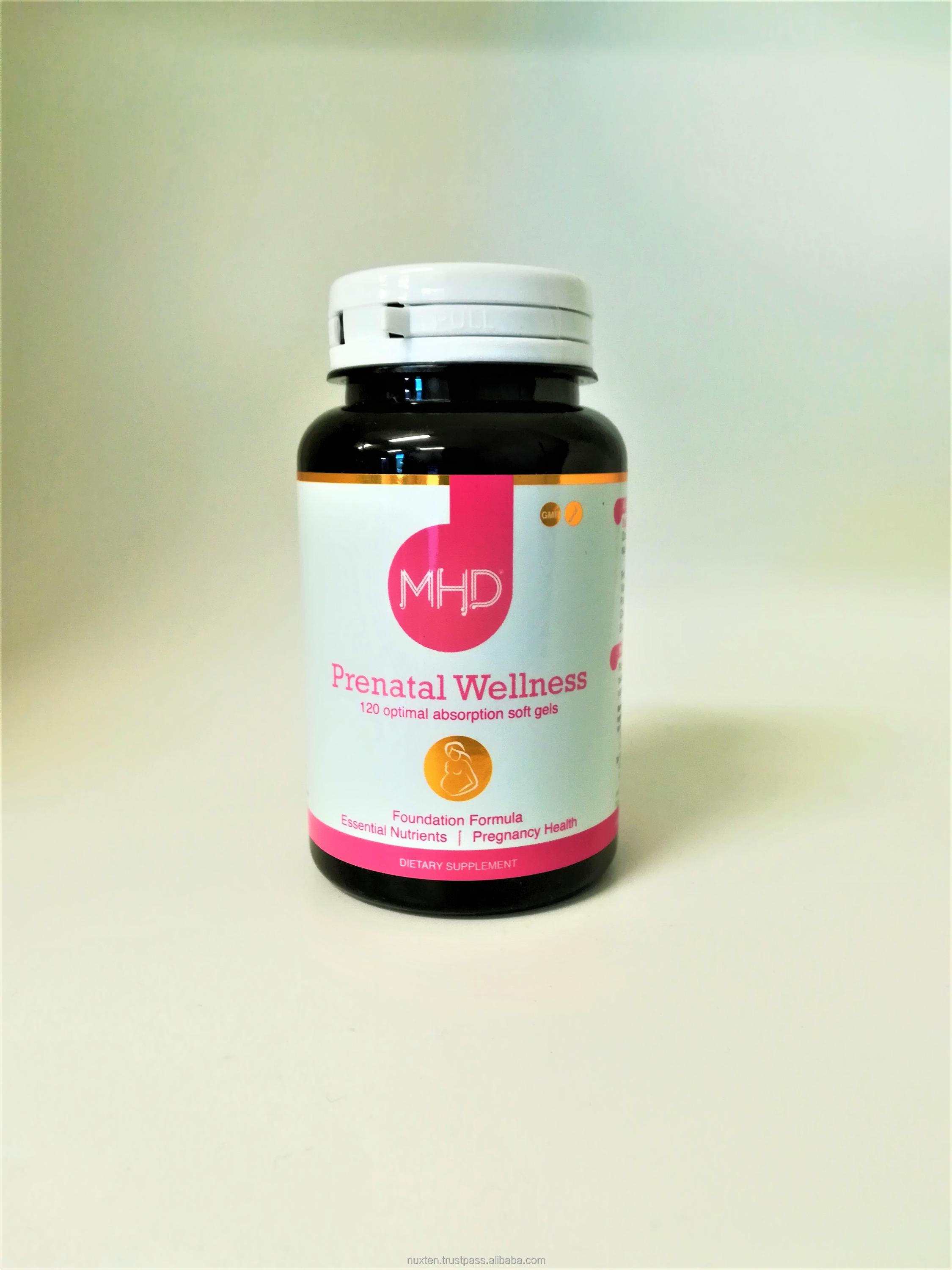 MHD: Prenatal Wellness - Pregnancy Support Supplements 120 Soft Gels Capsules