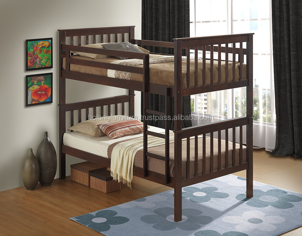 Kenny Double Decker Solid Wood Bunk Bed for Kids or Adults at Solid Rubber Wood Furniture