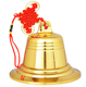 "5"" Eco-Life Solid Brass Fire Wall Bell"