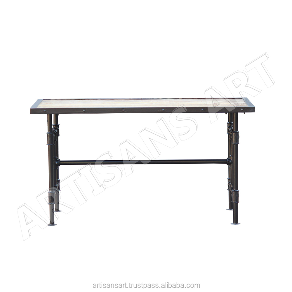 Vintage Industrial Mid Century Urban/Rustic Dining Table, Folding Table, Cast Iron Furniture