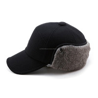 Winter Wool Baseball Cap\Fitted Hats Men Soft Faux Fur Hunting Hat